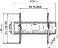 """Nástěnný TV držák Manhattan, 81 - 152 cm (32\"""" - 60\""""), sklopný"""