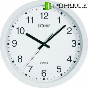 Analogové nástěnné hodiny Eurochron EQWU 882, A3199, Ø 30,5 x 3,8 cm, bílá