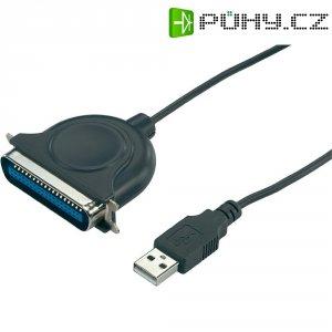 Adaptér USB 2.0 paralelní/paralelní k tiskárně, černý, 1,8 m