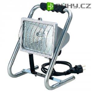 Přenosný halogenový reflektor Brennenstuhl, R7s, 500 W, IP44, vč. žárovky, stříbrná
