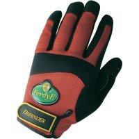 Pracovní rukavice, syntetická kůže, velikost M (8), červené