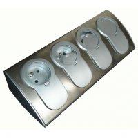 HBF 760070 Kuchyňská rohová lišta se 4 zásuvkami 230 V