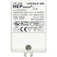 Ovladač LED osvětlení 350 mA, 4 W, 230 V, LIVC4A-Z UNI