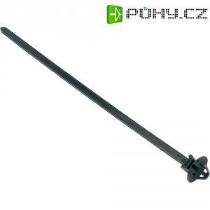 Stahovací psáky HellermannTyton T50SOSSFT6,5E 160X4,6, 160 x 4,6 mm, černá