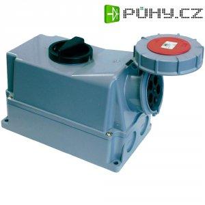 CEE zásuvka s vypínačem Twist 75352-6 PCE, 63 A, IP67, šedá/červená