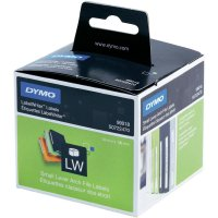 Páska do štítkovače Dymo LW, Typ 99018, S0722470, bílá/černá, 190 x 38 mm, 110 ks