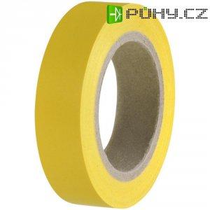 Izolační páska HellermannTyton HelaTapeFlex 15, 710-00102, 15 mm x 10 m, žlutá