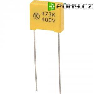 Foliový kondenzátor MKS, 0,047 µF, 400 V, 5 %, 13 x 5 x 11 mm