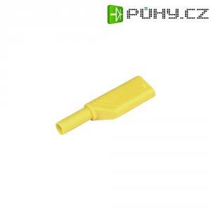 Bezpečnostní zástrčka SKS Hirschmann LAS S G (934099103), rovná, Ø 4 mm, 1,5 mm², žlutá