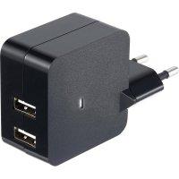 Síťový adaptér s USB Voltcraft SPS-2400/2, 5 V, 2x 1,2 A