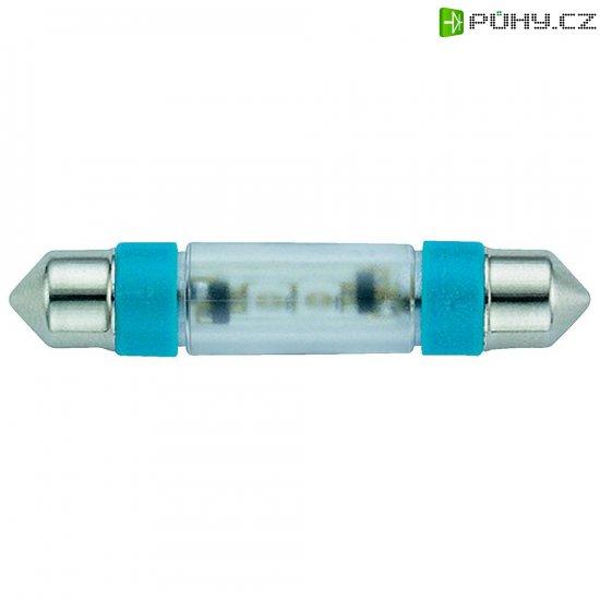 LED žárovka Signal Construct MSOE083942, 12 V DC/AC, modrá, podlouhlá - Kliknutím na obrázek zavřete