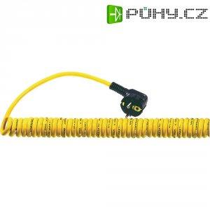 Síťový spirálový kabel LappKabel, zástrčka/otevřený konec, 0,9 m, žlutá, 73220852