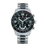 Ručičkové náramkové hodinky Swiss Military Chronograph, 20074ST-1MBK, pásek z nerezové oceli