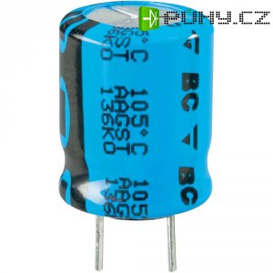 Kondenzátor elektrolytický Vishay 2222 136 66471, 470 µF, 25 V, 20 %, 20 x 10 mm