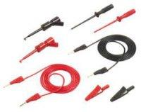 Sada měřicích kabelů SKS Hirschmann s příslušenstvím, 1 m, zástrčka Ø 2 mm, černá/červená