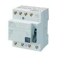 Proudový chránič A Siemens, 40 A, 4pólový, 5SM33446