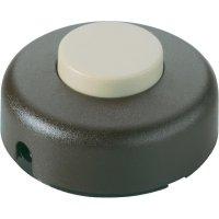Nášlapný vypínač interBär, 1pólový, 250 V/AC, 2 A, zlatá