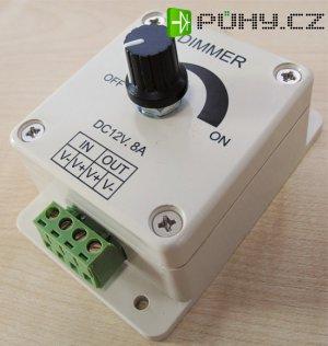 Stmívač pro LED pásky 12V-8A-96W s potenciometrem