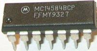 4584 - 6x Schmitt. KO, DIP14 /MC14584/