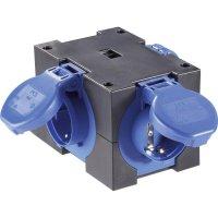 Proudová rozbočka PCE 9430406, na kabel 10 - 14 mm (PG16), 3 zásuvky, IP44,