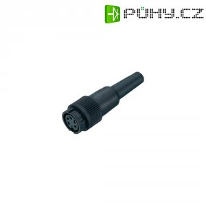 Kabelový konektor Binder 678, 9906060003, 3pól., Ø 0,75 mm², IP40, 7 A, 250 V, černá