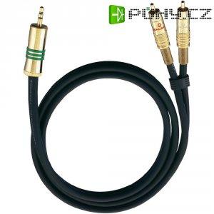 Připojovací kabel Oehlbach, jack zástr. 3.5 mm/cinch zástr., černý, 1 m