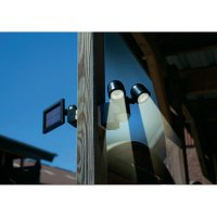 Solární LED svítidlo s detektorem pohybu GEV 000858, černá