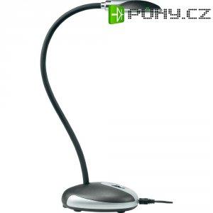 Stolní LED lampa, 3,7 W, černá, studená bílá