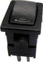Kolébkový spínač SCI R13-66L-02 LED 24V/DC s aretací 250 V/AC, 6 A, 1x vyp/zap, černá, červená, 1 ks