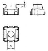 Klecová matice, M5, 2,5 mm, ocel 10 ks