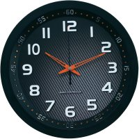 Nástěnné DCF hodiny Techno Line Metall 3D WT 8972, 30 cm , černá