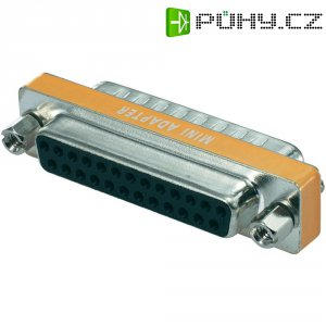 Adaptér D-SUB Amphenol Null Modem, 25-pólový, zásuvka/zástrčka
