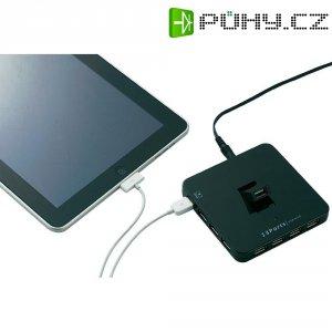 Hub s nabíječkou pro iPad, 13portový, USB 3.0, černý