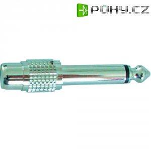 Redukce cinch / mono jack 6,3 mm, stříbrná