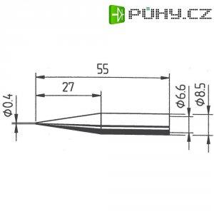 Pájecí hrot Ersa ERSADUR 842 UD LF, tužkový prodloužený, 0,4 mm