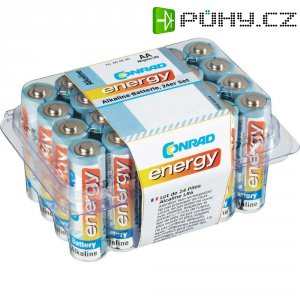 Sada tužkových baterií Conrad energy Alkaline AA, 24 ks