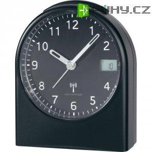 Analogový DCF budík s LCD, HD-TRC210, 96 x 114 x 54 mm, černá