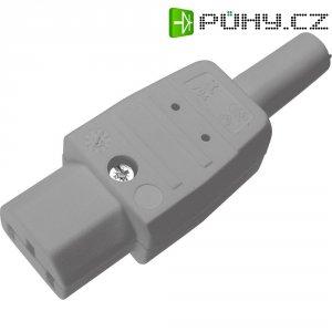 Síťová IEC zásuvka C13 Kaiser, 250 V, 10 A, šedá, 794/gr