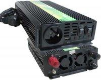 Měnič 12V/230V+UPS 600W,modif.sinusovka, použitý, funkční