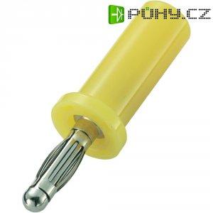 Lamelový konektor Ø 4 mm SCI, zástrčka rovná, žlutá