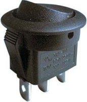 Přepínač kolébkový ON-ON 1pol.černý 250V/6A