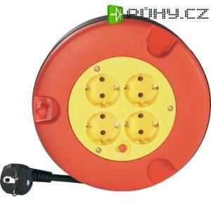 Kabelový buben, 4 zásuvky, 5 m, červená/žlutá