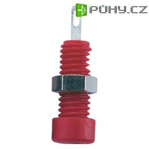 Lab. konektor Ø 2 mm SKS Hirschmann CO MBI 1 Au (930308701), zásuvka vest. vert., červená
