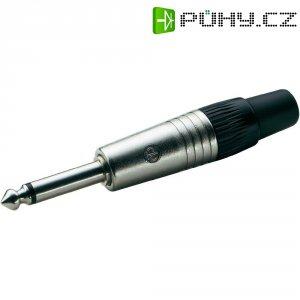 Jack konektor 6,35 mm mono Neutrik NP 2, zástrčka rovná, 4 - 7 mm, 2pól., stříbrná