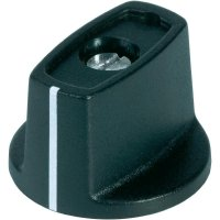 Otočný knoflík s ukazatelem (Ø 40 mm) OKW, 6 mm, černá