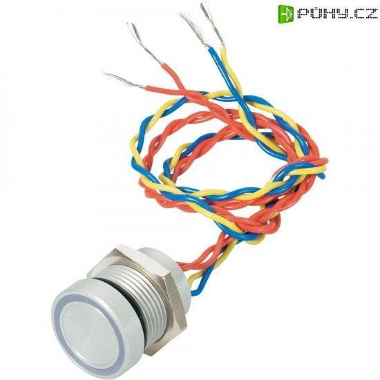 Piezo tlačítko APEM, 24 V DC/AC, 0,2 A, IP 69K, PBAR6AF0254J0G, zelená LED - Kliknutím na obrázek zavřete