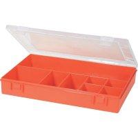 Box na součástky Alutec 611700, 335 x 225 x 55 mm, červená