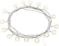 Vnitřní světelný řetěz s koulemi, 16 LED, 3 m, teplá bílá