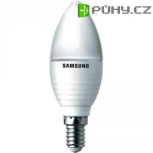 LED žárovka Samsung E14, 3,2 W, matná svíčka, teplá bílá