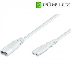 Prodlužovací kabel Goobay, zásuvka C7, zástrčka C8, 2 m, bílá